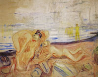 Edvard Munch The Researchers: Left Part with Playing Children