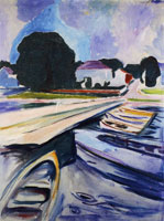 Edvard Munch Rowboats at Åsgårdstrand