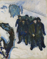 Edvard Munch Sailors in Snow