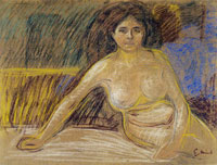 Edvard Munch Seated Nude