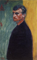 Edvard Munch Self-Portrait Against Two-Coloured Background