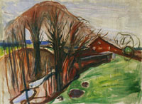 Edvard Munch Spring Landscape with Red House