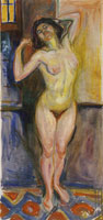 Edvard Munch Standing Nude with Arms Behind Her Head