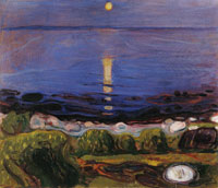 Edvard Munch - Summer Night by the Beach