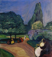 Edvard Munch Summer Night in Studenterlunden