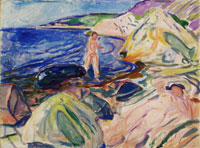 Edvard Munch Sunbathing