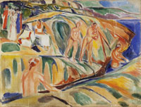 Edvard Munch Sunbathing Women on Rocks