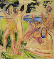Edvard Munch The Tree of Life: Right Part