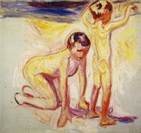 Edvard Munch Two Boys on the Beach