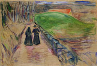Edvard Munch Two Women on the Road