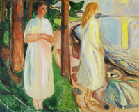 Edvard Munch Two Women in White on the Beach