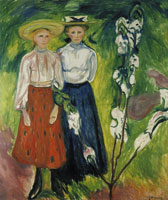 Edvard Munch Two Young Girls in the Garden