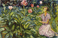 Edvard Munch Woman with Peonies