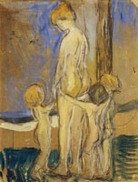 Edvard Munch Woman with Children