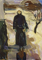 Edvard Munch Woman by the House Corner