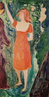 Edvard Munch Woman in a Red Dress