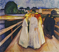 Edvard Munch The Women on the Bridge