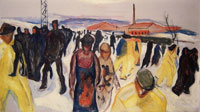 Edvard Munch Workers Returning Home
