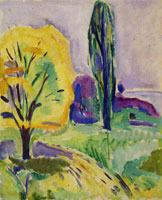 Edvard Munch Yellow and Green Tree