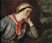 Gustave Courbet Peasant Girl with a Scarf