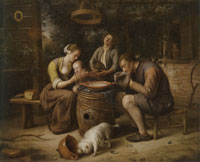 Jan Steen Prayer Before the Meal