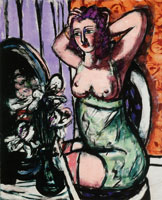 Max Beckmann Woman with Mirror and Orchids