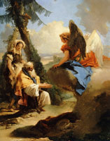 Giovanni Battista Tiepolo - An Angel Appearing to Abraham and Sarah