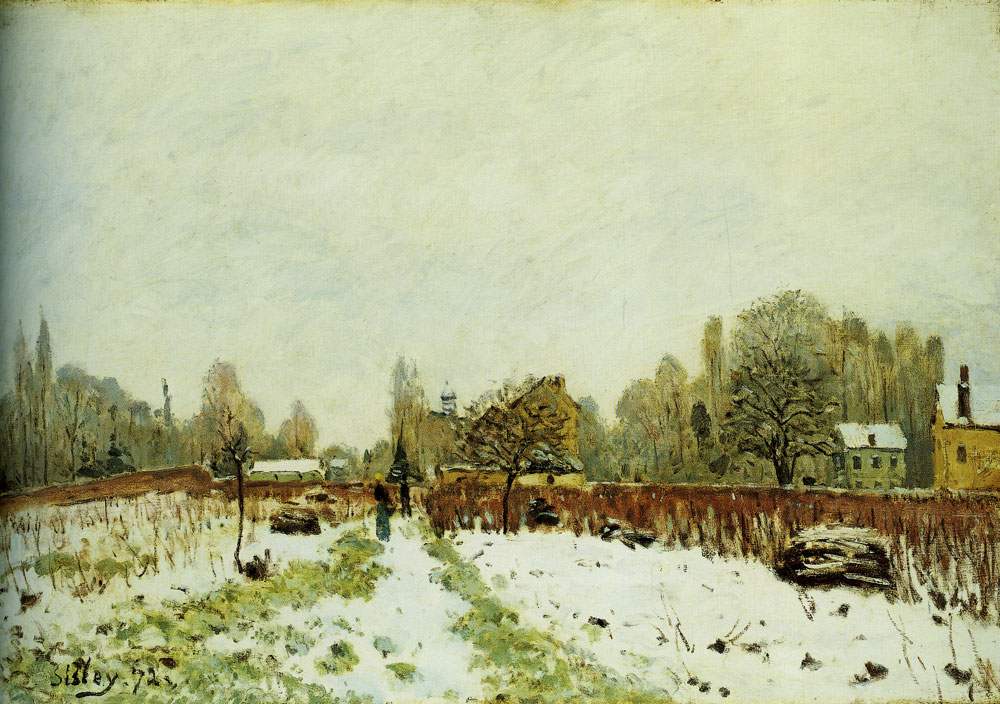 Alfred Sisley - Louveciennes in the Snow