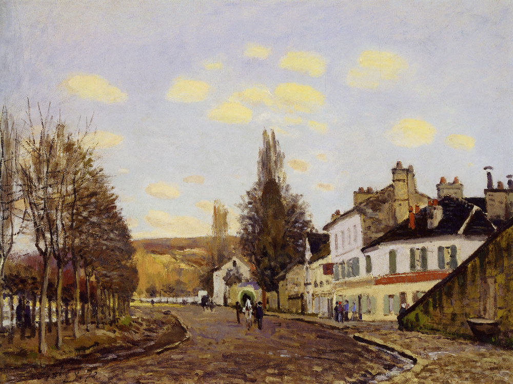 Alfred Sisley - The Road from Saint-Germain to Marly