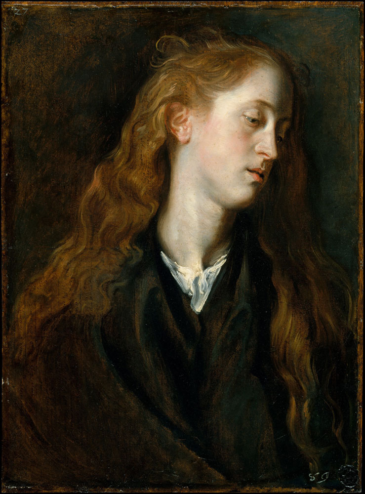 Anthony van Dyck - Study Head of a Young Woman