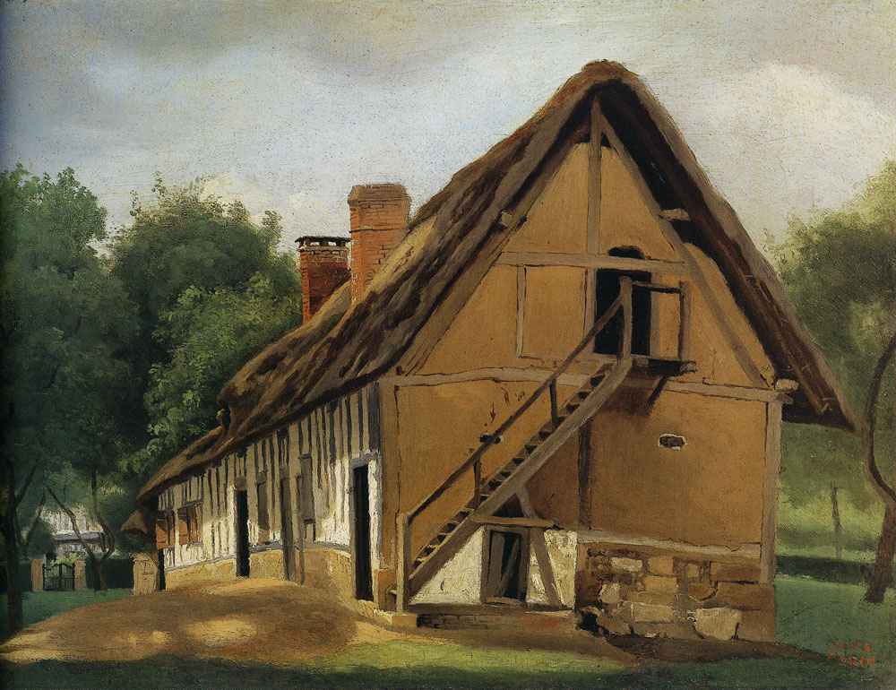 Jean-Baptiste-Camille Corot - Farm Building at Bois-Guillaume, near Rouen