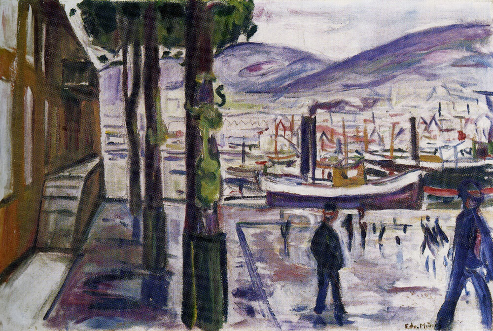 Edvard Munch - Bergen Harbour