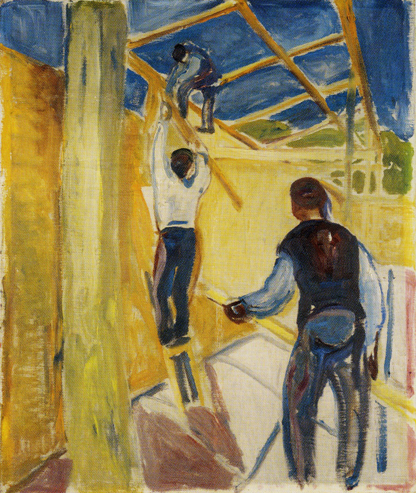 Edvard Munch - Building Workers in the Studio