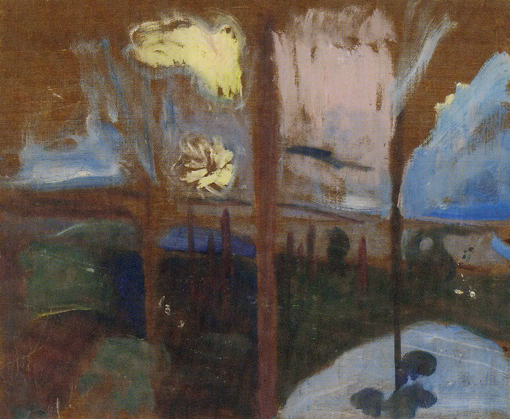 Edvard Munch - Forest Study