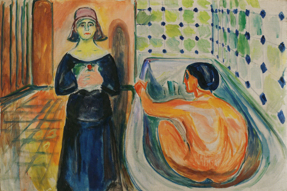 Edvard Munch - Marat in the Bath and Charlotte Corday