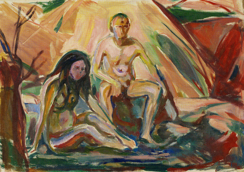 Edvard Munch - Naked Man and Woman, Seated