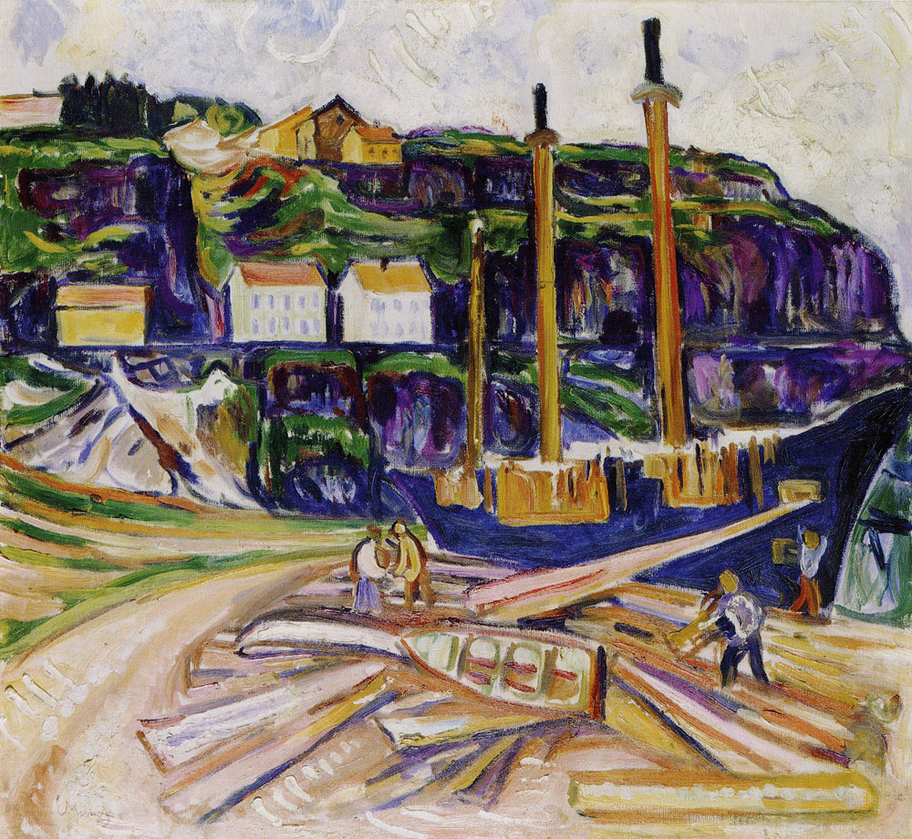 Edvard Munch - Ship being Scrapped