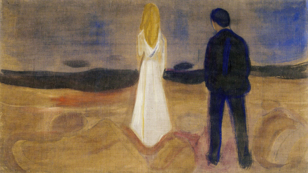Edvard Munch - Two Human Beings. The Lonely Ones (the Reinhardt Frieze)
