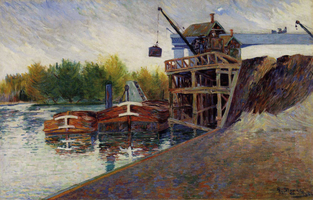 Paul Signac - The Coal Crane, Clichy