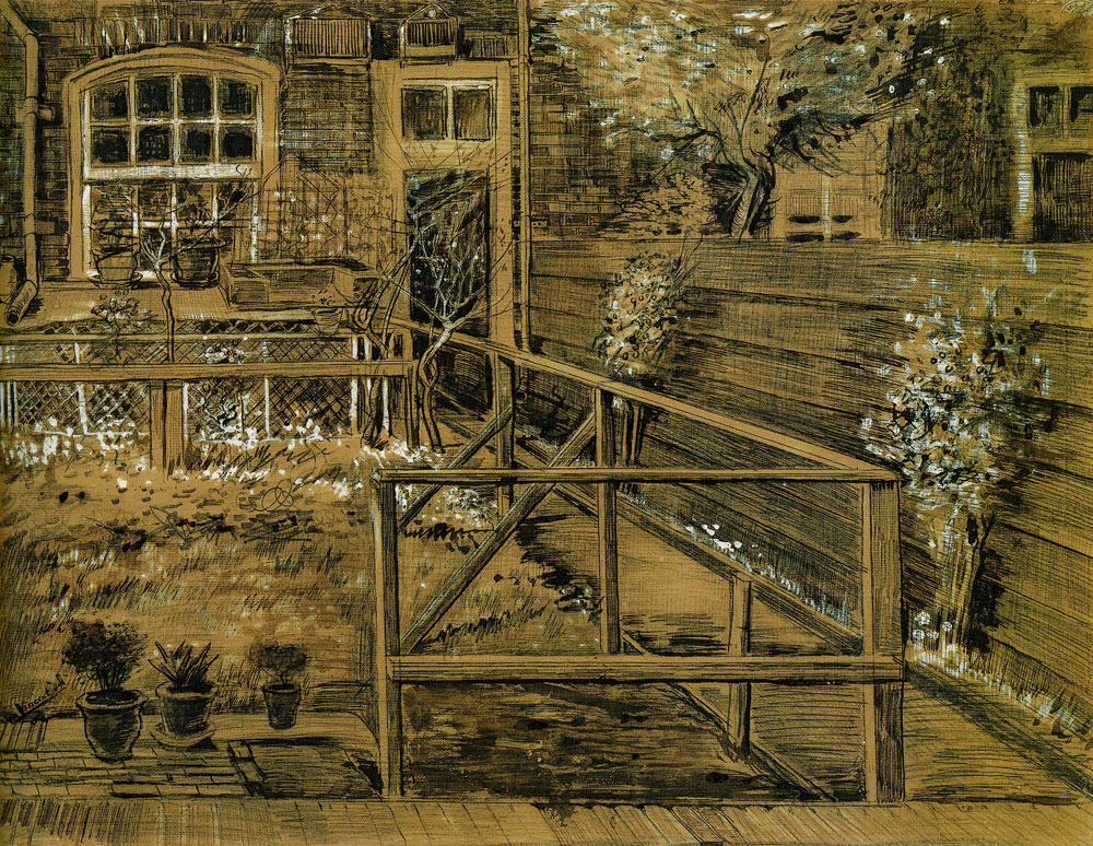 Vincent van Gogh - The Back Garden of Sien's Mother's House, The Hague