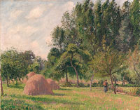 Camille Pissarro Haystacks, Morning, Éragny