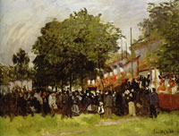 Claude Monet Fête at Argenteuil