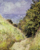 Claude Monet - Road at La Cavée, Pourville