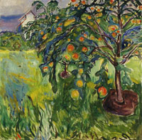 Edvard Munch Apple Tree by the Studio