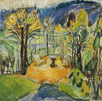 Edvard Munch The Arbour in Late Autumn