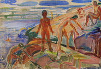 Edvard Munch Bathers on Rocks