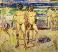 Edvard Munch Bathing Men
