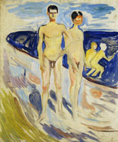 Edvard Munch Bathing Young Men