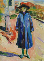 Edvard Munch Blue Coat in Sunshine