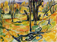 Edvard Munch Elm Forest in Autumn